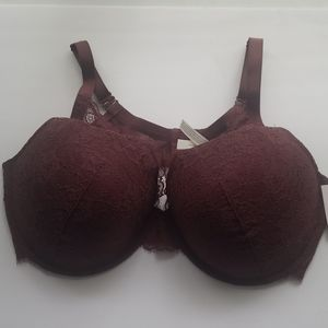 Auden Mist Plunge Coverage Push-Up Bra 46DD